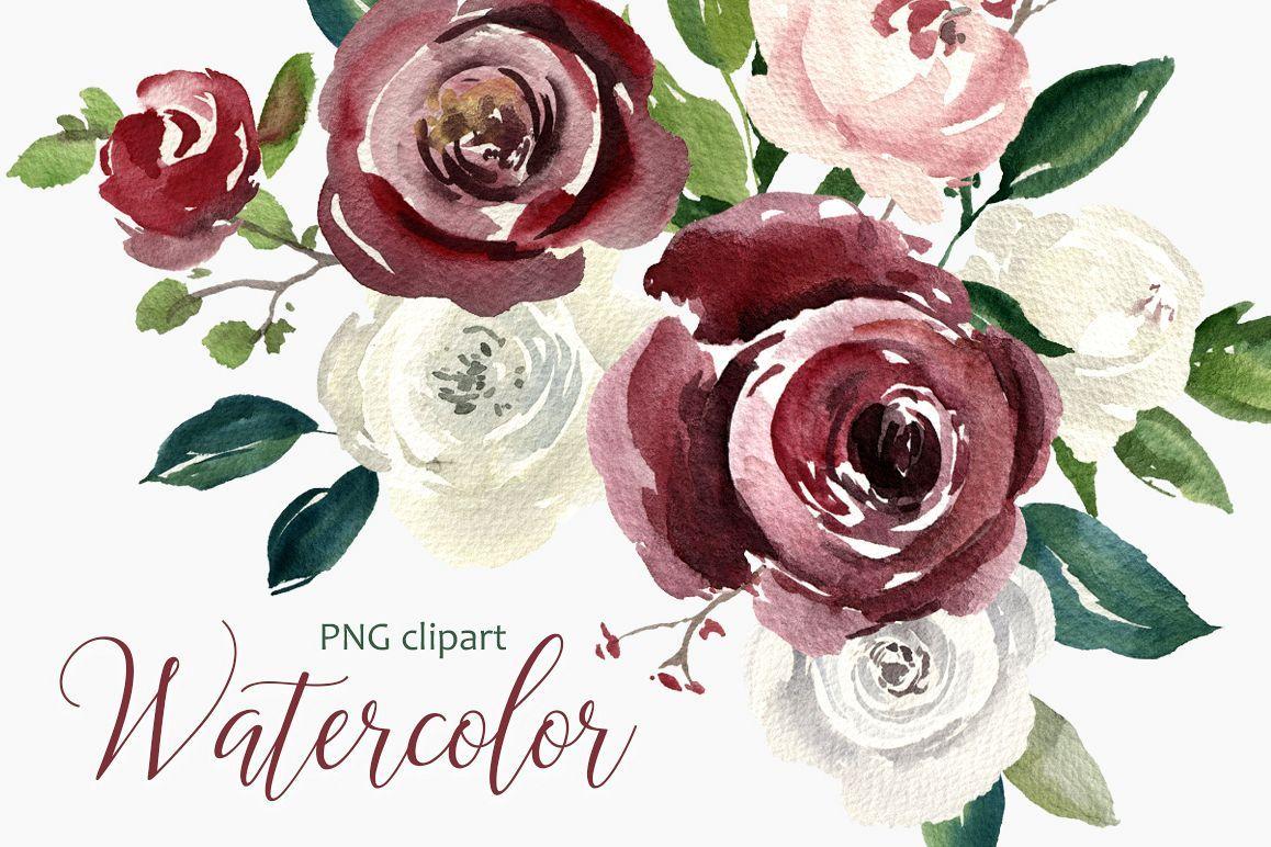 Afbeeldingsresultaat Voor Watercolor Rose Flower Clipart Watercolor Rose Flower Clipart Png
