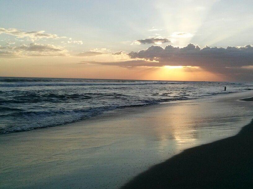 Sundown At Poneloya Beach Nicaragua
