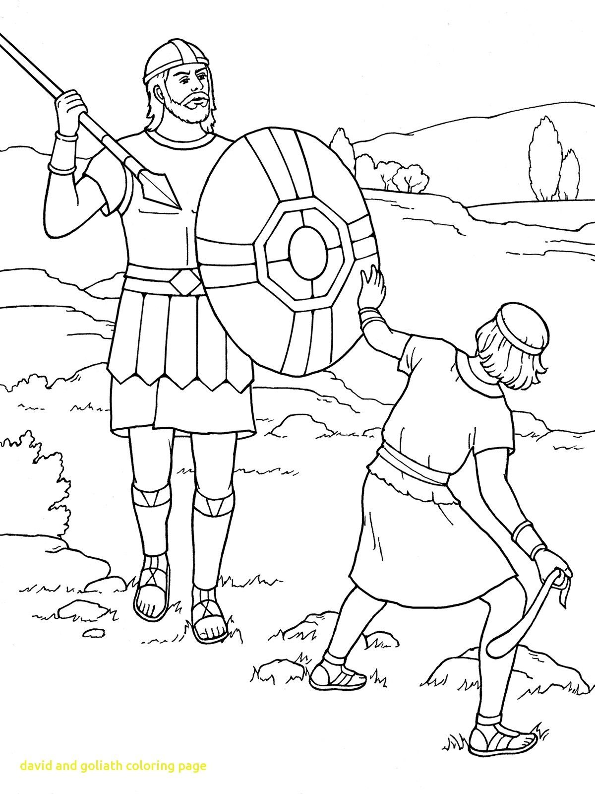 Unique Ideas David And Goliath Coloring Pages For Toddlers Sheet