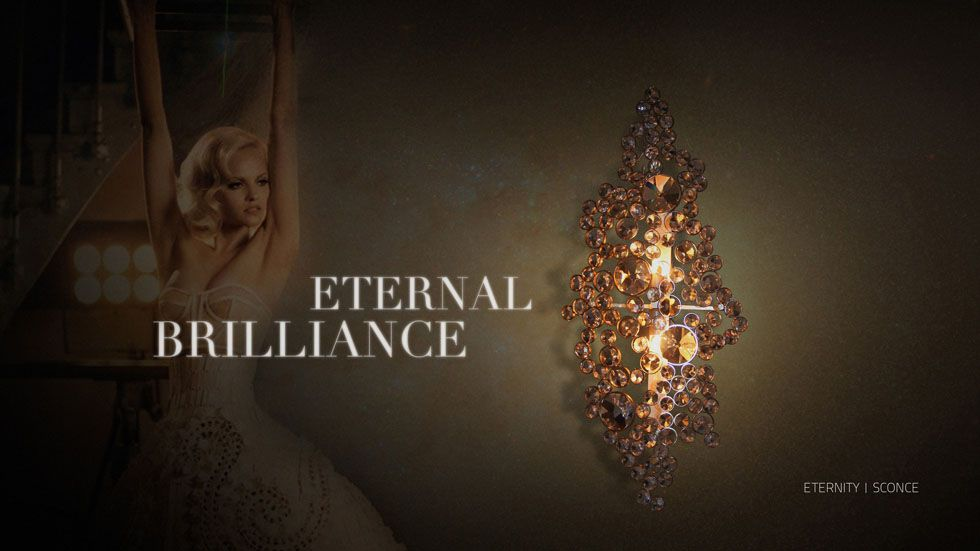 The elegant silhouette of these wall sconces takes its brilliance from the skillful crystal application to produce these fine furniture pieces the eternal