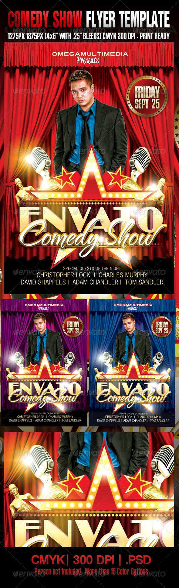 Comedy Show Template  Flyer Template And Print Templates