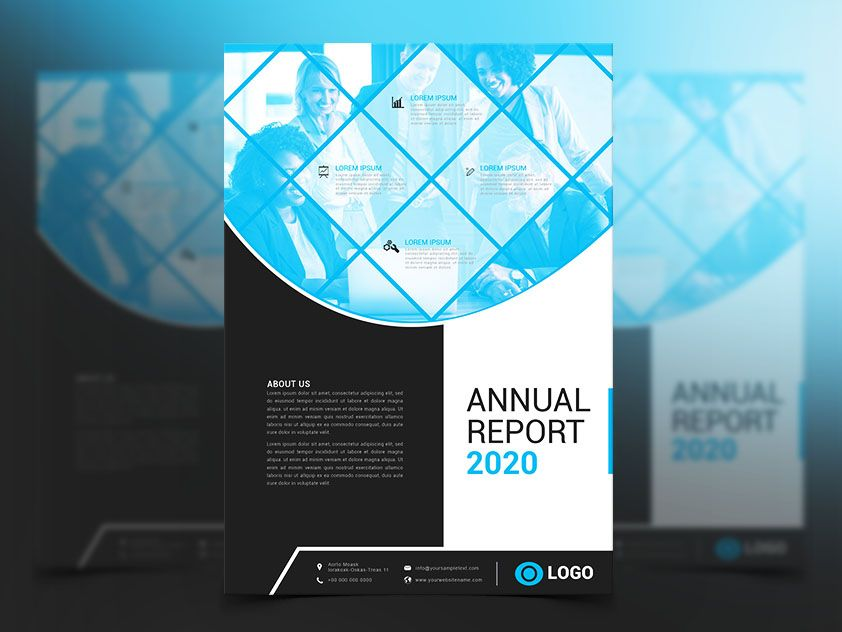 Modern Annual Report Cover Design Free Download For Commercial Use