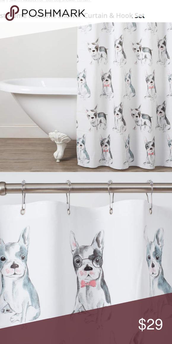 French Bulldog Shower Curtain Hooks Pvc Free Shower Curtain 12