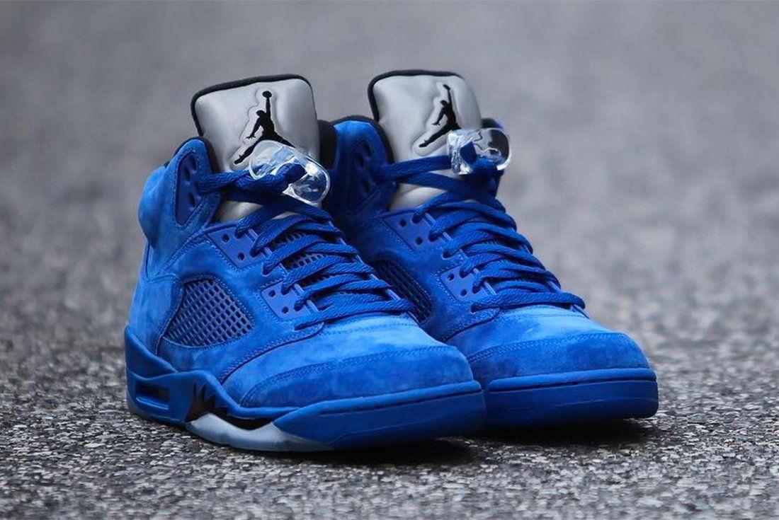 7e985f6ed8665  Blue Suede  Jordan 5s.