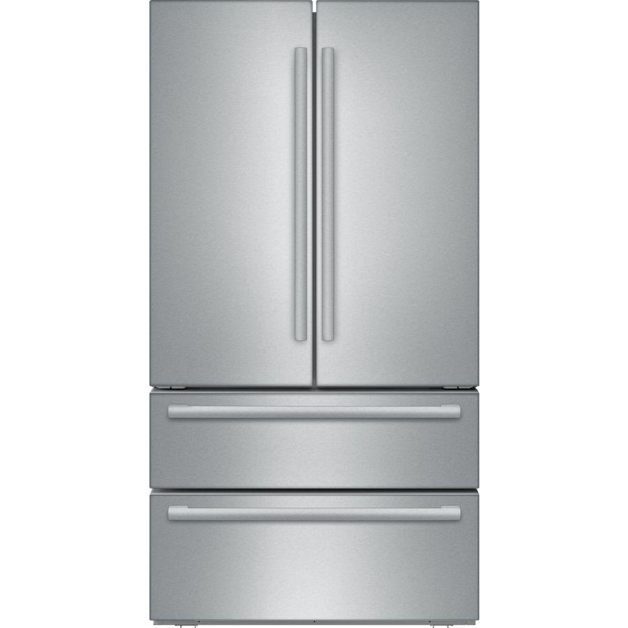 Bosch 800 20 7 Cu Ft 4 Door Counter Depth French Door Re Lowes Com Counter Depth French Door Refrigerator French Door Refrigerator French Doors