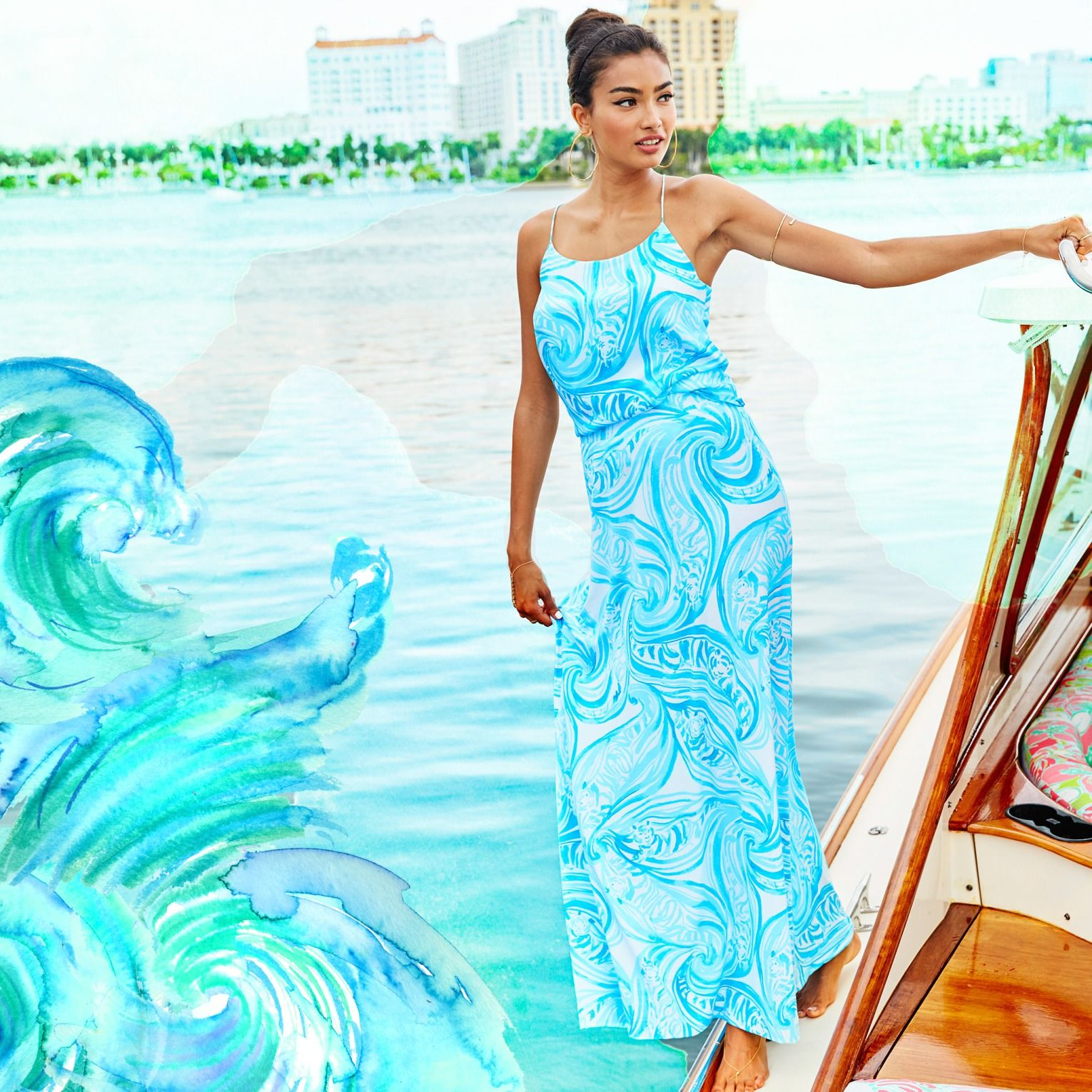 Lilly Pulitzer Print: Sea Ruffles