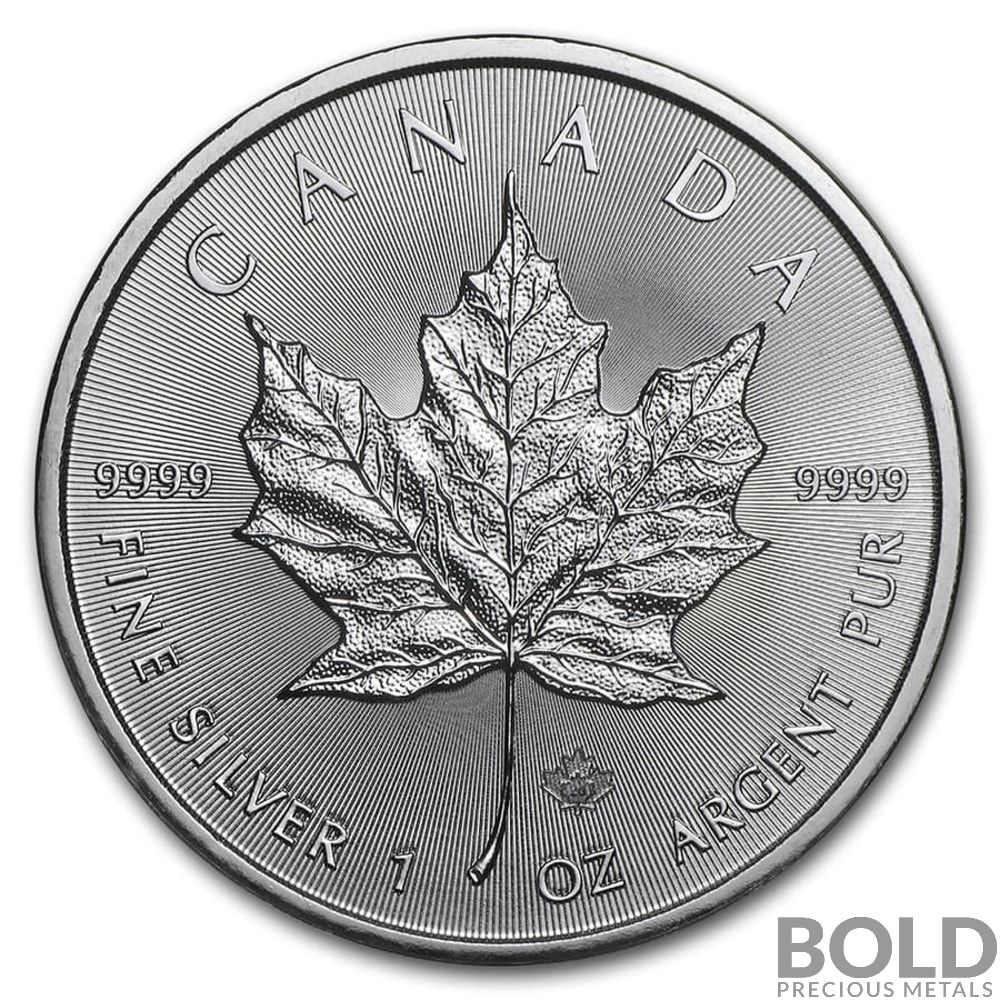 2020 Silver 1 Oz Canada Maple Leaf Bold Precious Metals Silver Maple Leaf Silver Bullion Silver Coins For Sale