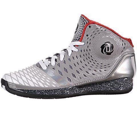 Adidas Derrick D Rose 3.5 Aluminum/White/Black Men's Basketball Shoes (Size  8.5