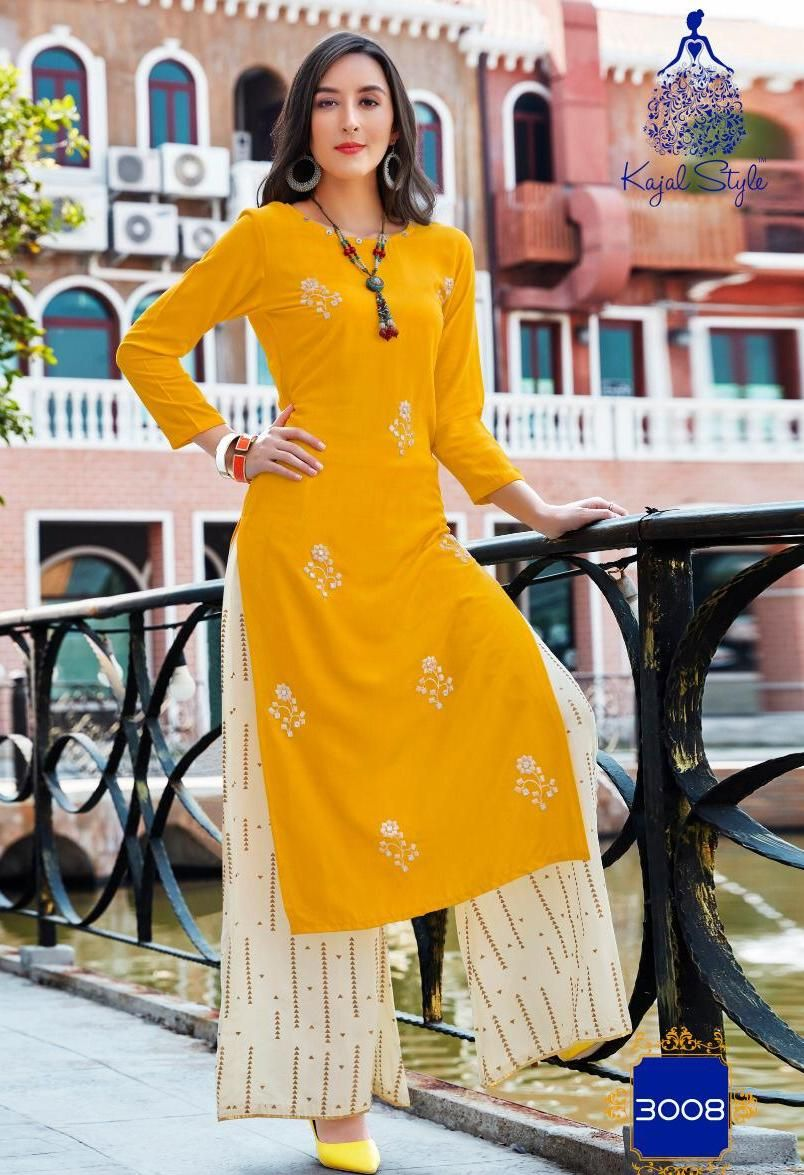 2bb93450dd Kajal Style Fashion Biba Vol-3 Kurtis With Palazzo (12 pc catalog ...