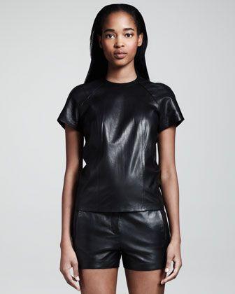 Alexander Wang leather tshirt