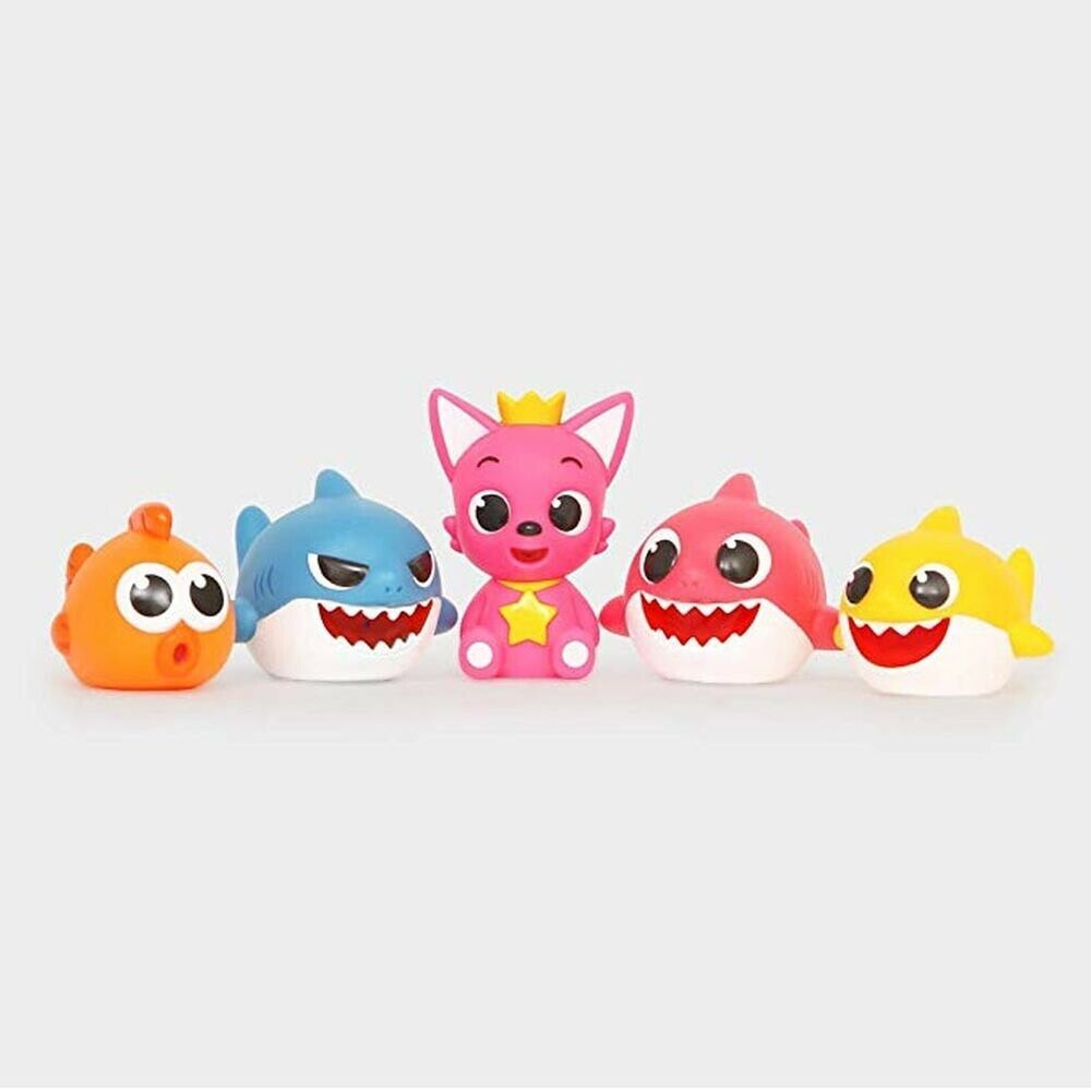 Pinkfong Baby Shark Bath Squirts Toy Set Of 5 Pinkfong Alcancias