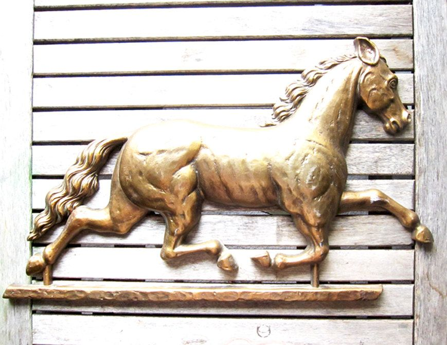 Vintage Gold Horse Wall Hanging   Racing Horse Home Decor. $22.00, Via Etsy.