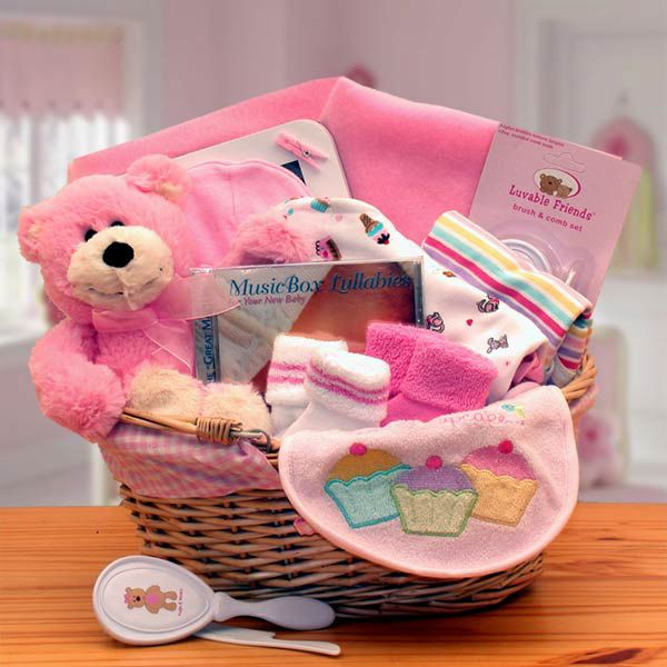 Baby girl gift basket pink pink gifts newborn baby girls and baby girl gift basket pink negle Images