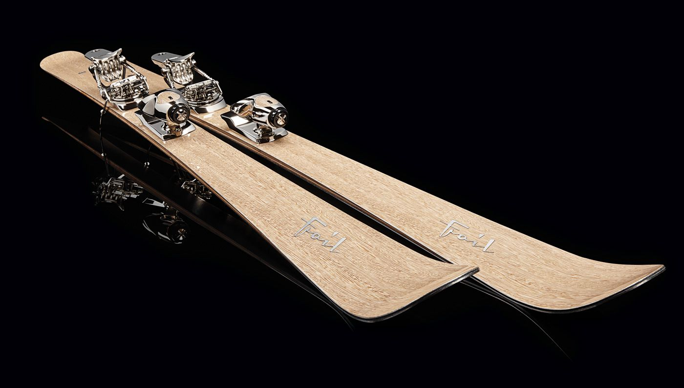 Each pair of the high-performance, hand-made Foil skis takes at least three weeks to finish…