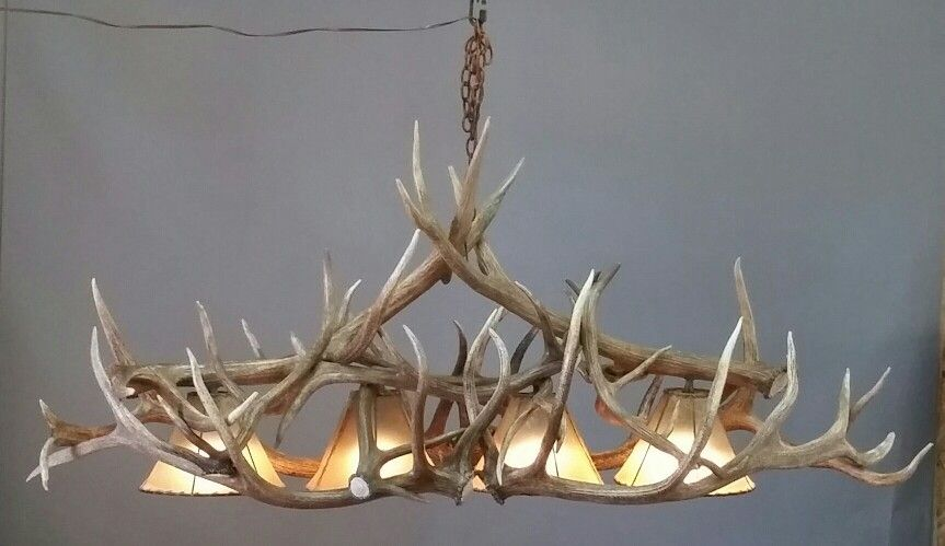Oval Antler Chandeliers Elk Chandelier Pool Table Light With - Antler pool table light