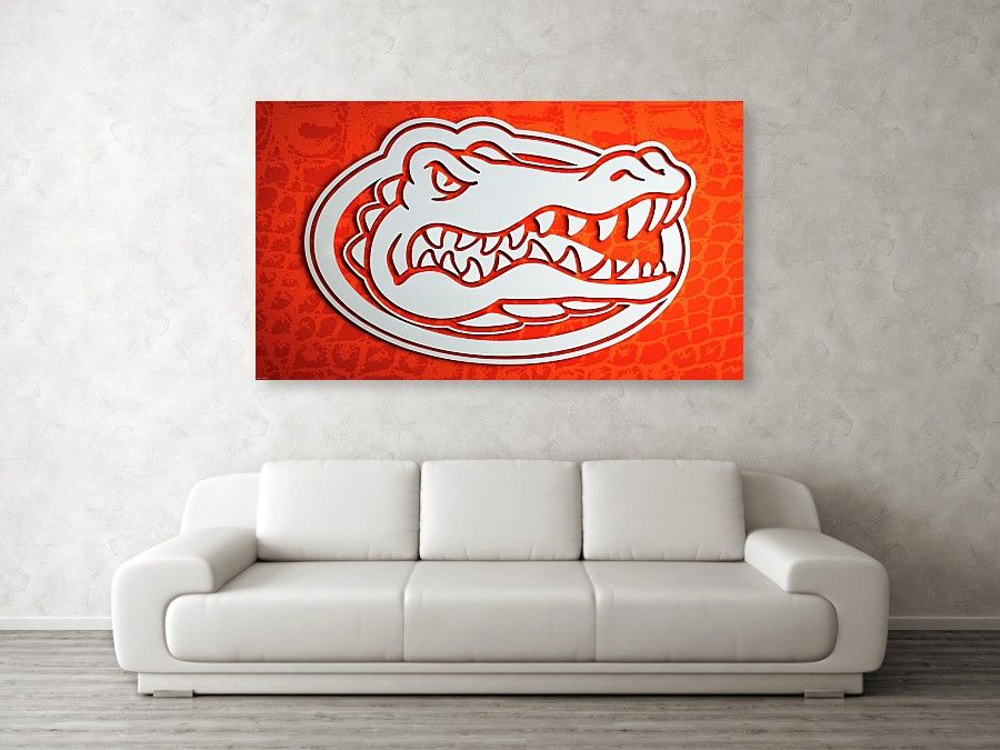 Cool University Of Florida Gators Canvas Wall Art For Your Sports Room Dorm Room Or Office Gators Florida Canvas Wall Decor Canvas Wall Art Florida Gators