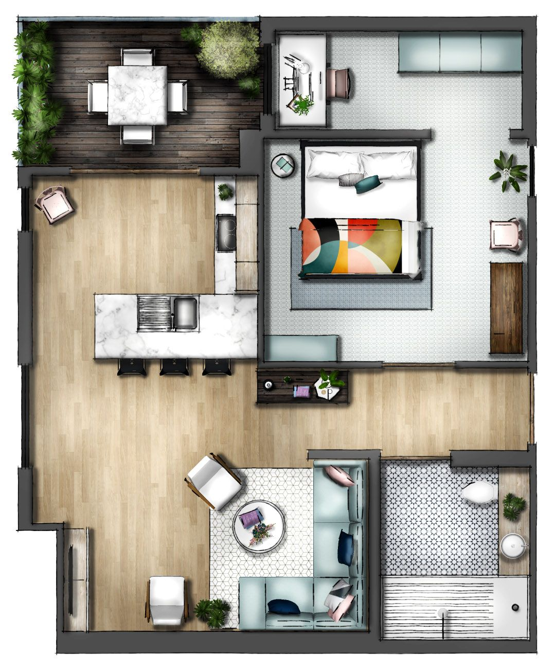 Rendered Floor Plan For Interior Design Rendered Floor Plan Interior Design Plan Interior Floor Plan