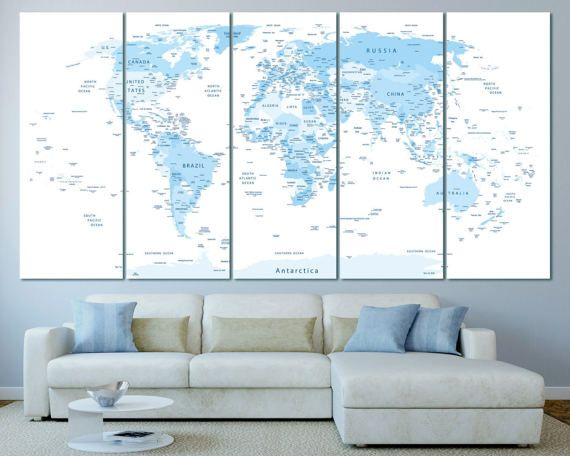 Large blue highly detailed world map with countries and cities blue large blue highly detailed world map with countries and cities blue push pin world map gumiabroncs Image collections