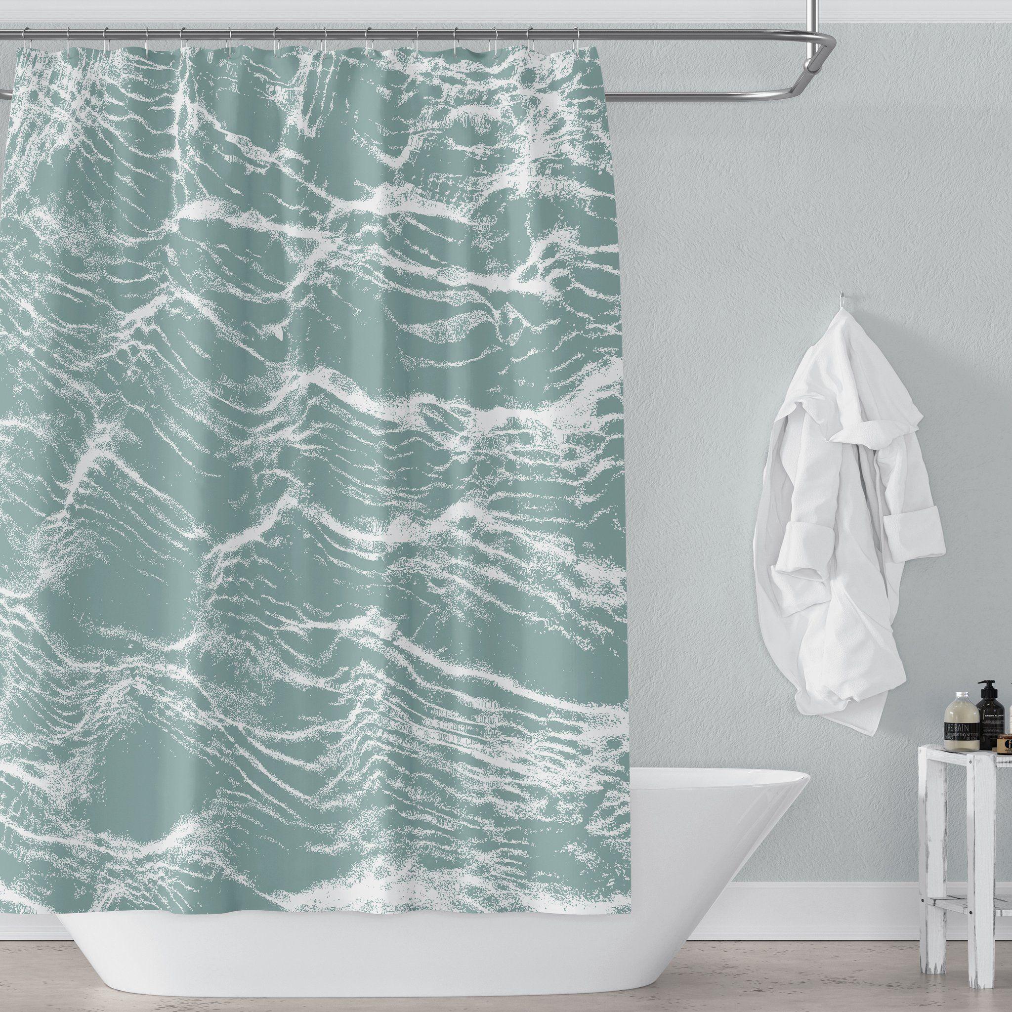 Aqua Green Ocean Ripples Water Photo Art Print Shower Curtain