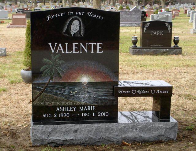 Http Www Woodlawnmemorials Com Valente8 Jpg Grave Marker Cemetery Headstones Tombstone Designs