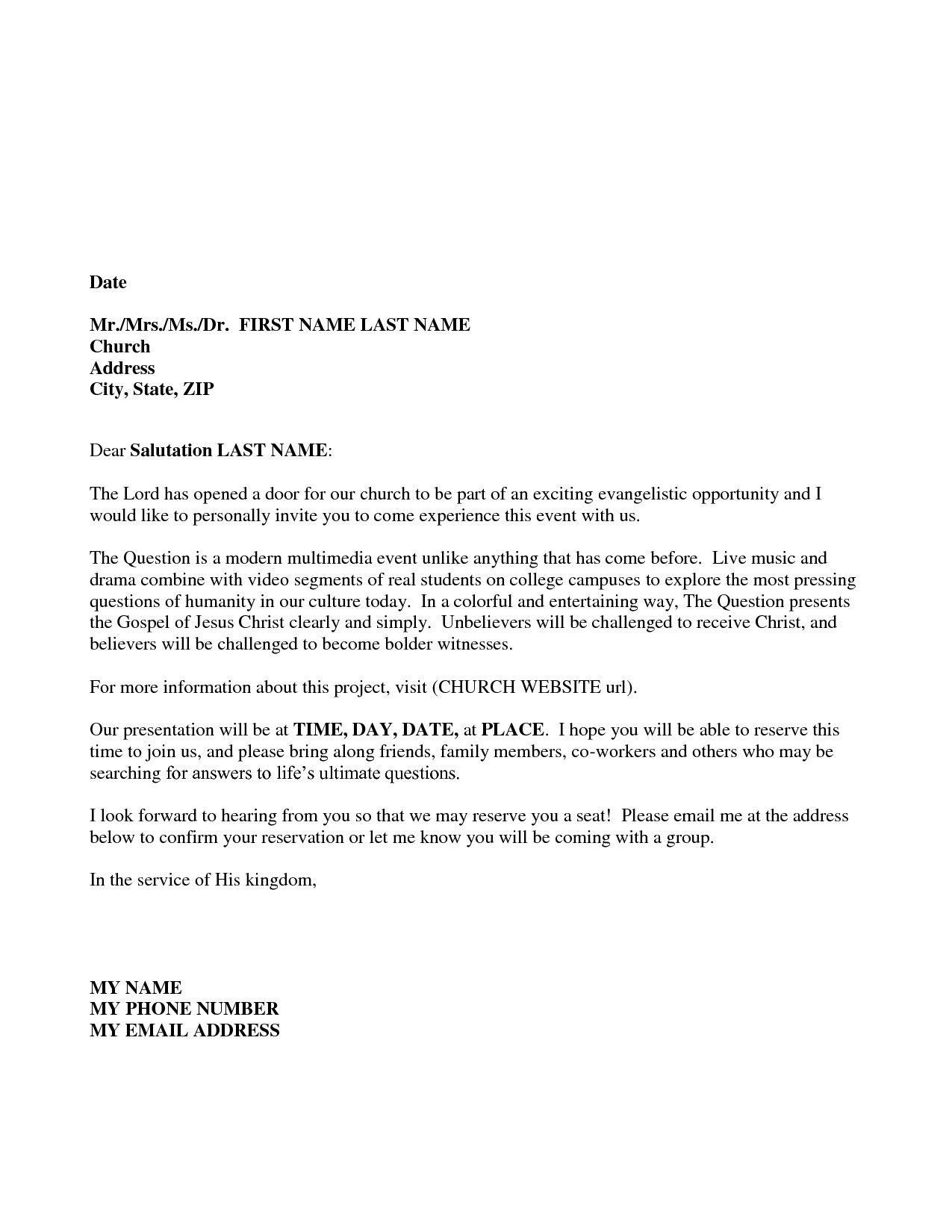 Sample Invitation Letter For A Seminar Save Formal