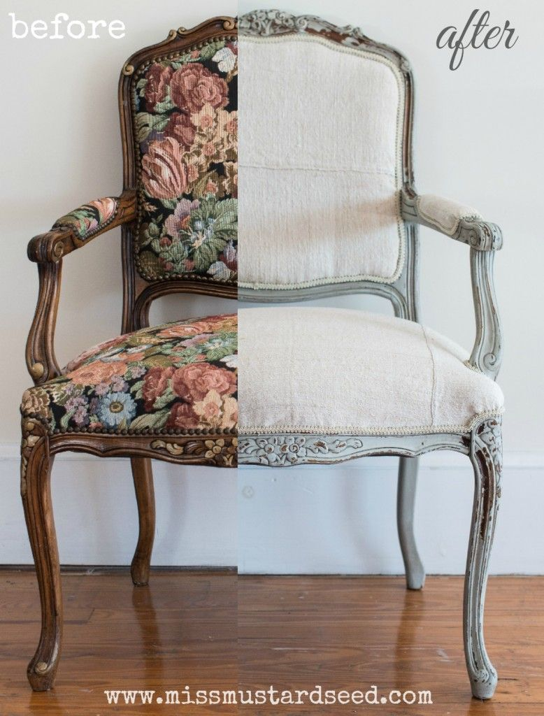 reupholstering a French chair Reupholster chair dining