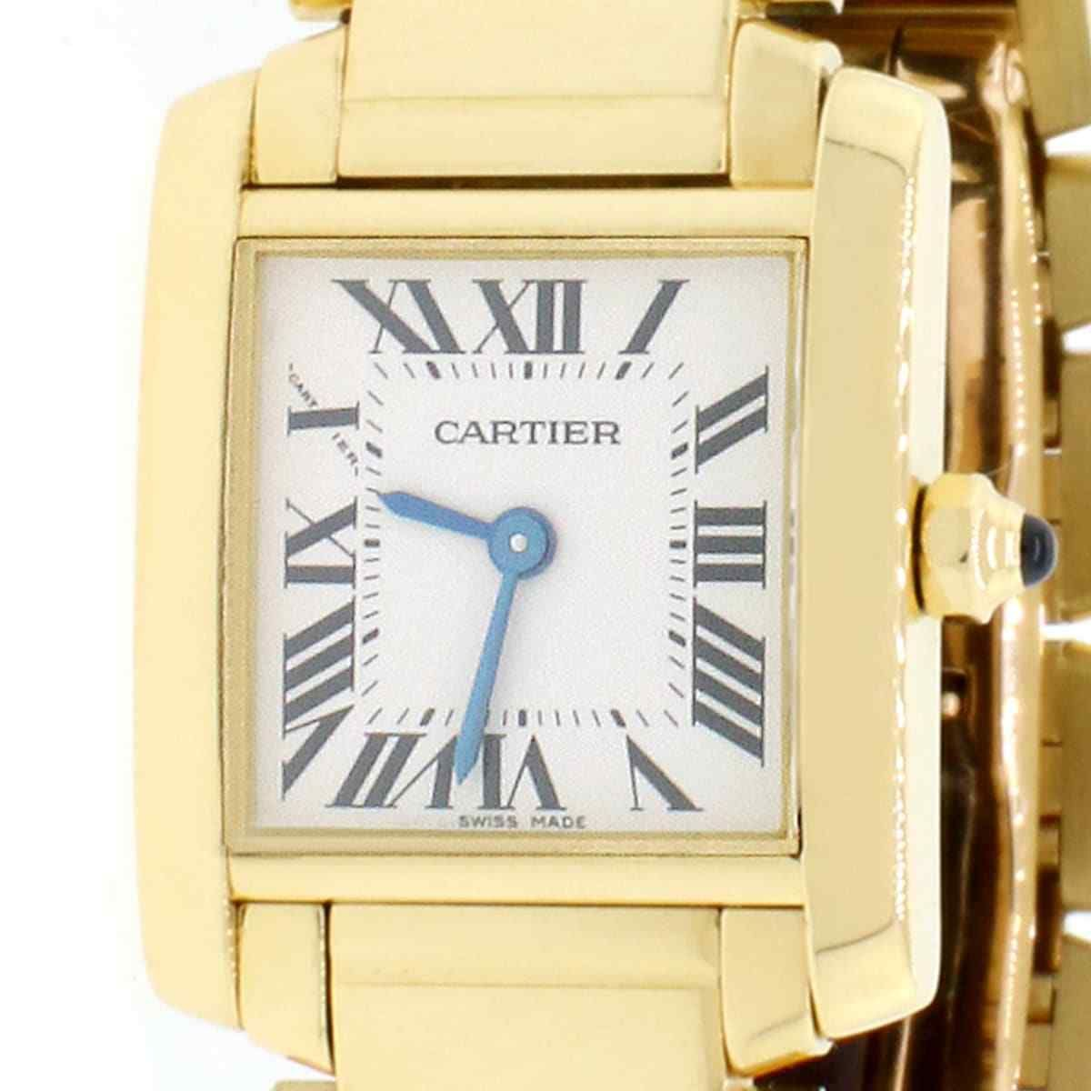 21cd4652682be Cartier Tank Francaise Gold Factory Roman Dial 20MM Ladies W50002N2  w BoxPapers
