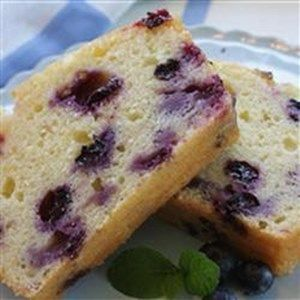 """""""The delightful combination of lemon and blueberries really jazz up this quick loaf cake."""""""