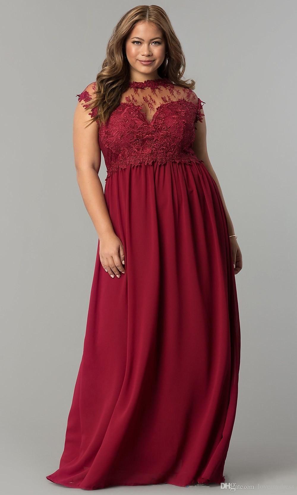 Fashion burgundy chiffon long prom bridesmaid dress sheer
