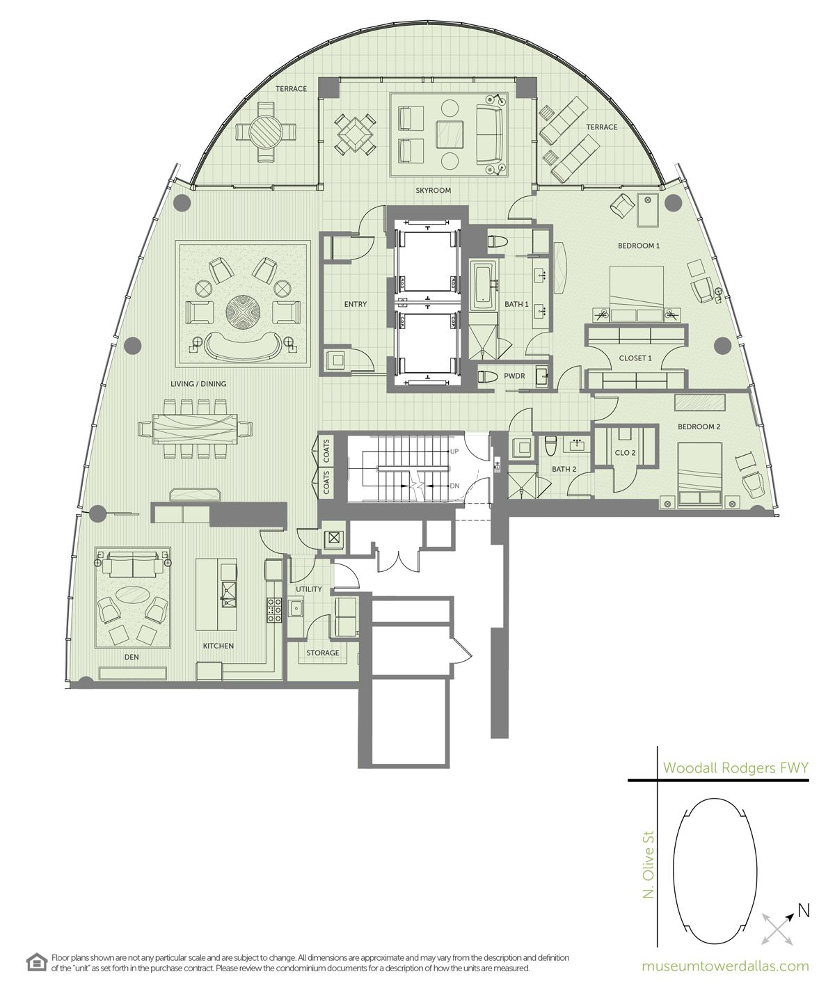 Museum Tower Offers A Variety Of Unique Downtown Dallas Condominium Floorplans Ranging From 1 800 Sq Ft Floor Plans Condo Floor Plans Condominium Floor Plan