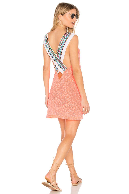 Pitusa Cross Back Dress In Orange Modesens Pitusa Dress Backs Dresses