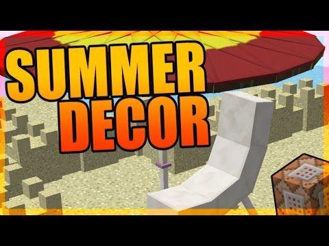 Minecraft Summer Decorations In Pure Vanilla Only One Command Summer Decor Decor Summer