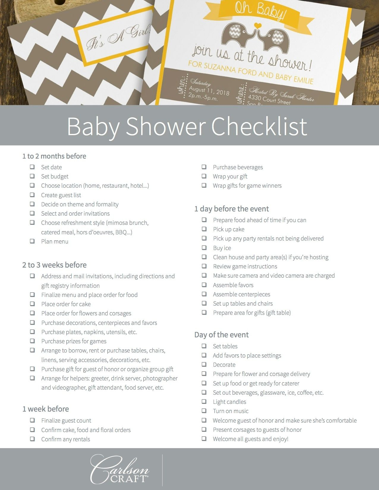 It's just an image of Slobbery Printable Baby Shower Checklist
