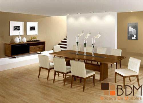 Comedor estilo contemporáneo en madera. | Comedores Nidito ...