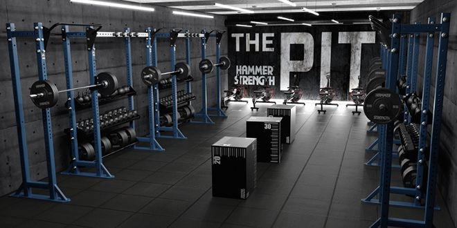 Hammerstrength the pit crossfit gym in gym room gym