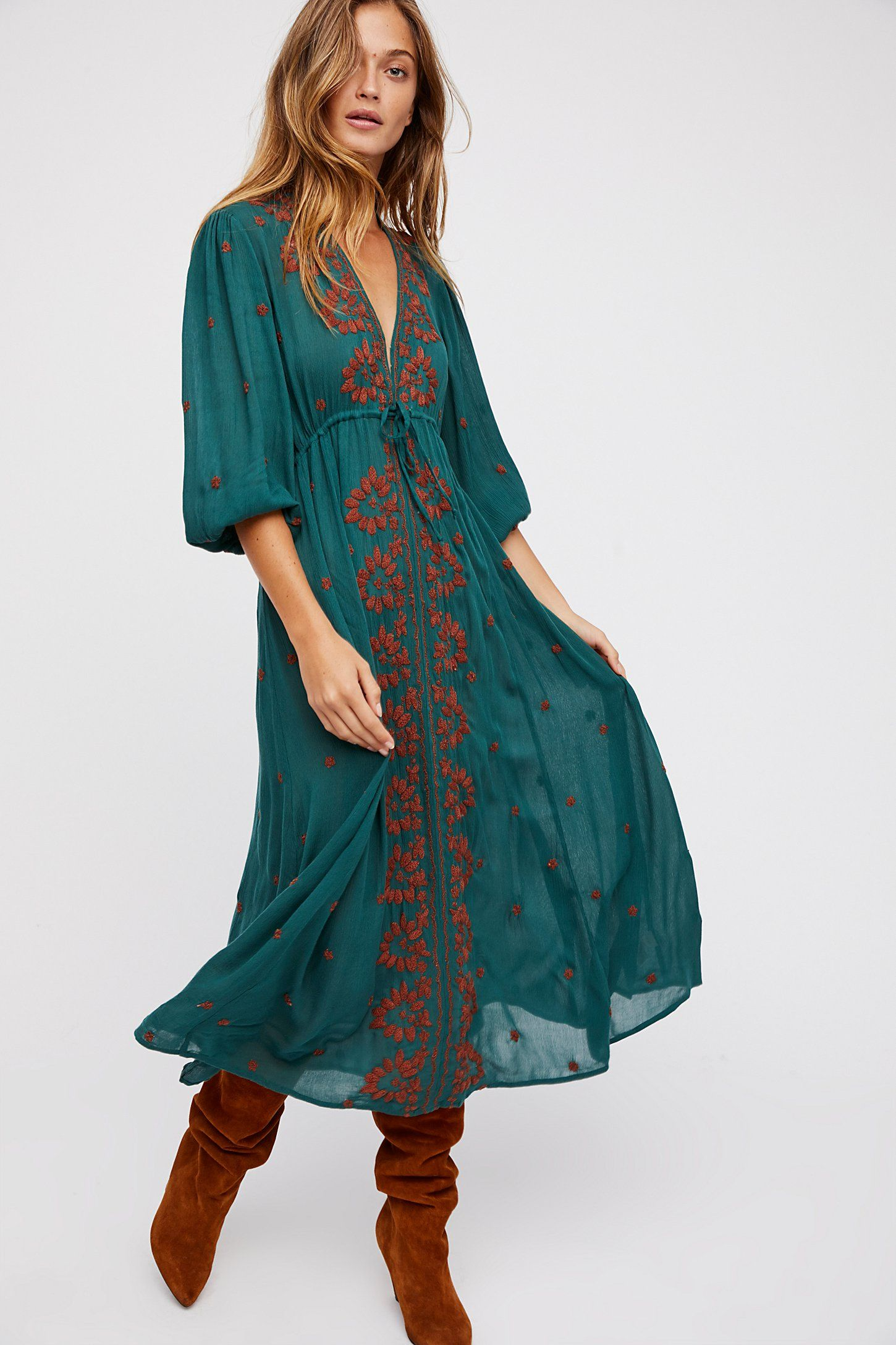 f6a544542362 Shop our Embroidered Fable Dress at Free People.com. Share style pics with  FP Me, and read & post reviews. Free shipping worldwide - see site for  details.