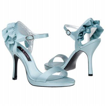 Blue Wedding Shoes With Ruffle Heels