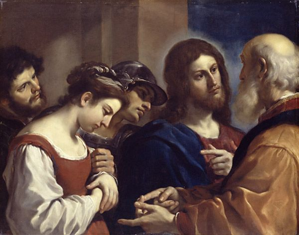 Jesus and the Guercino Adultress1621Dulwich