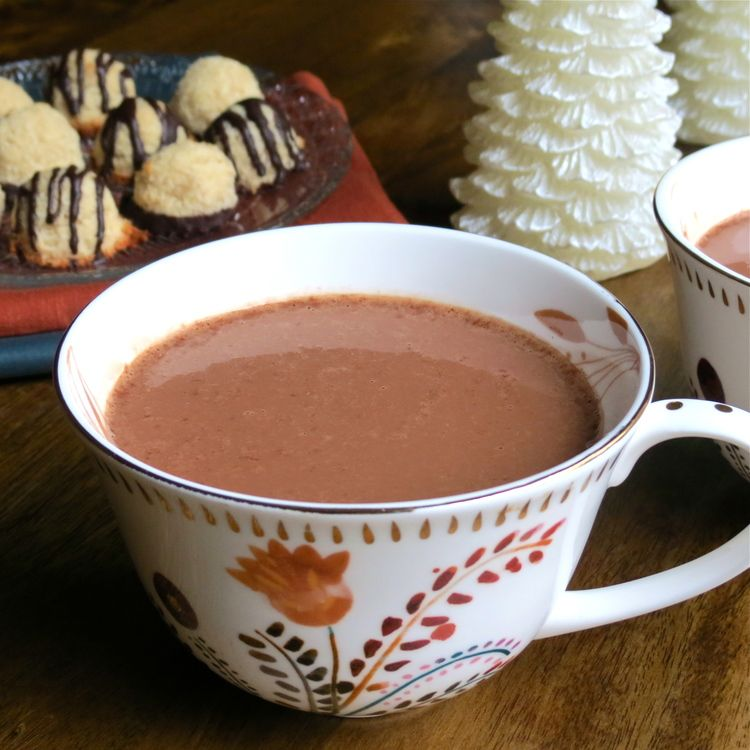 Making the perfect cup of homemade hot cocoa is quite simple and can be  made with healthy ingredients, using substantially less sugar than a store  bought version. I prefer to use either almond or coconut milk. If you want  an even thicker and creamier cup of cocoa, you can use some canned coconut  milk as well. It's a delicious experience!  CONTINUE