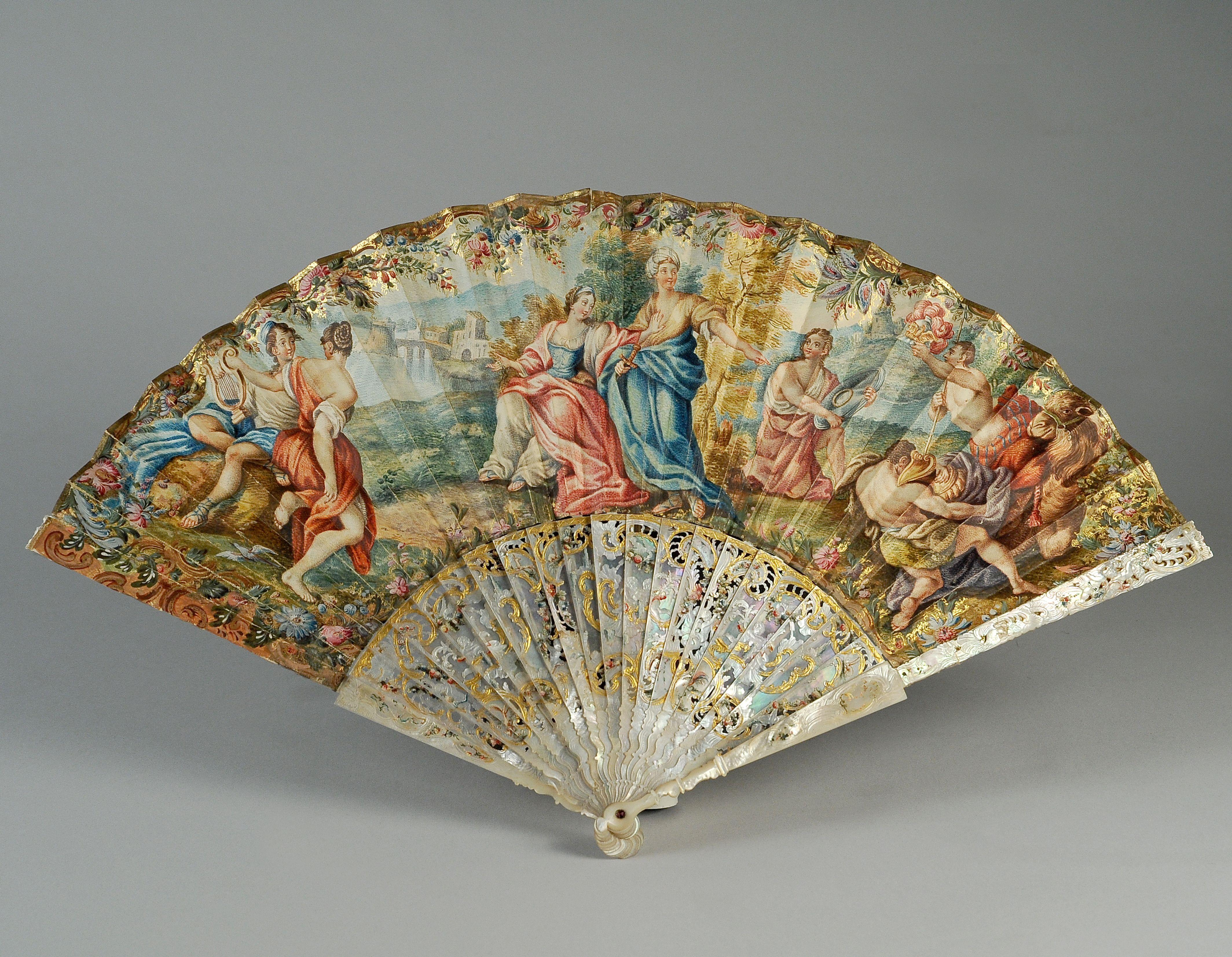 Ventagli Da Parete Decorativi v di ventaglio ventaglio italia, 1740 circa achille