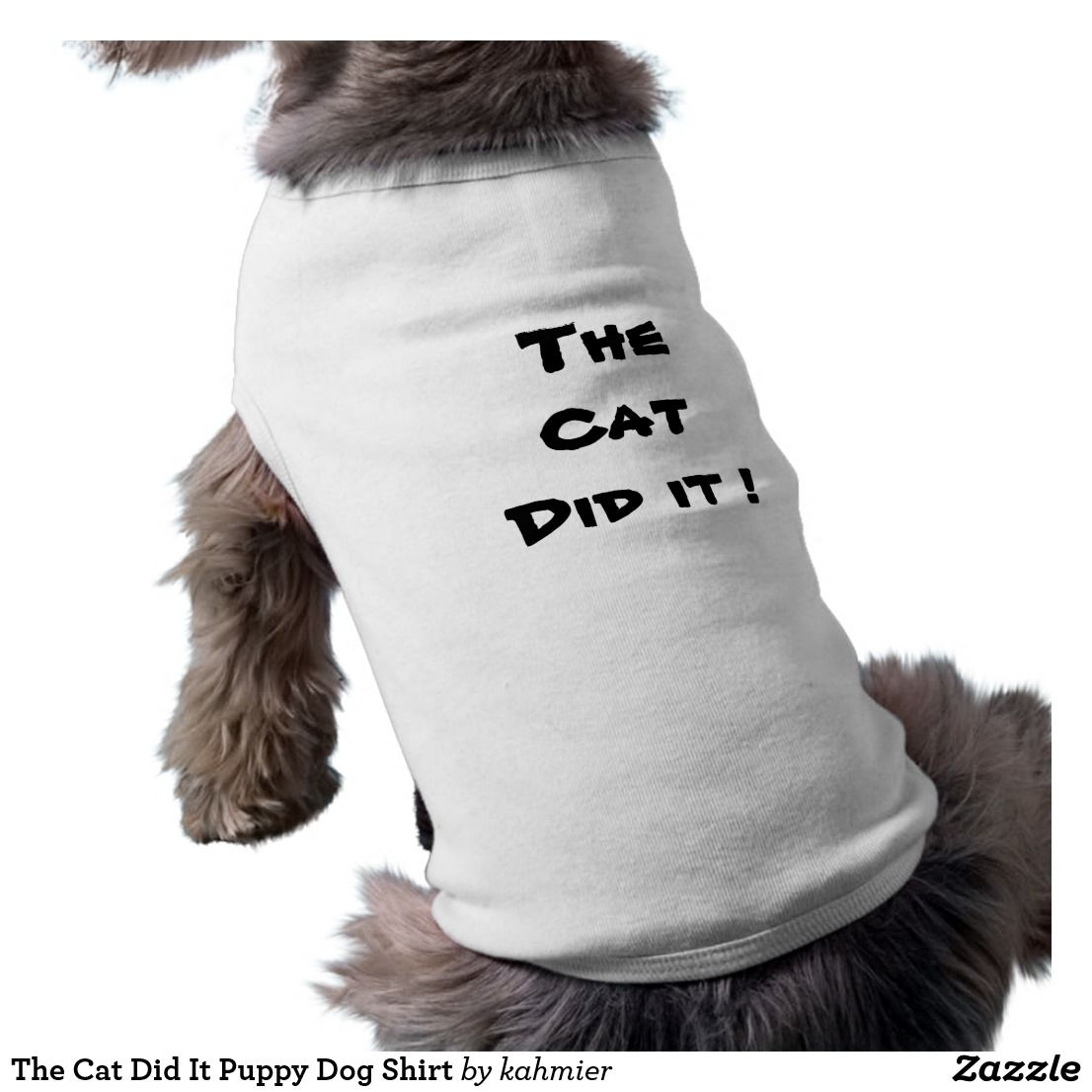 Funny ... The Cat Did It Puppy Dog Shirt