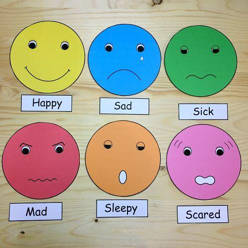 Kindergarten worksheets on feelings