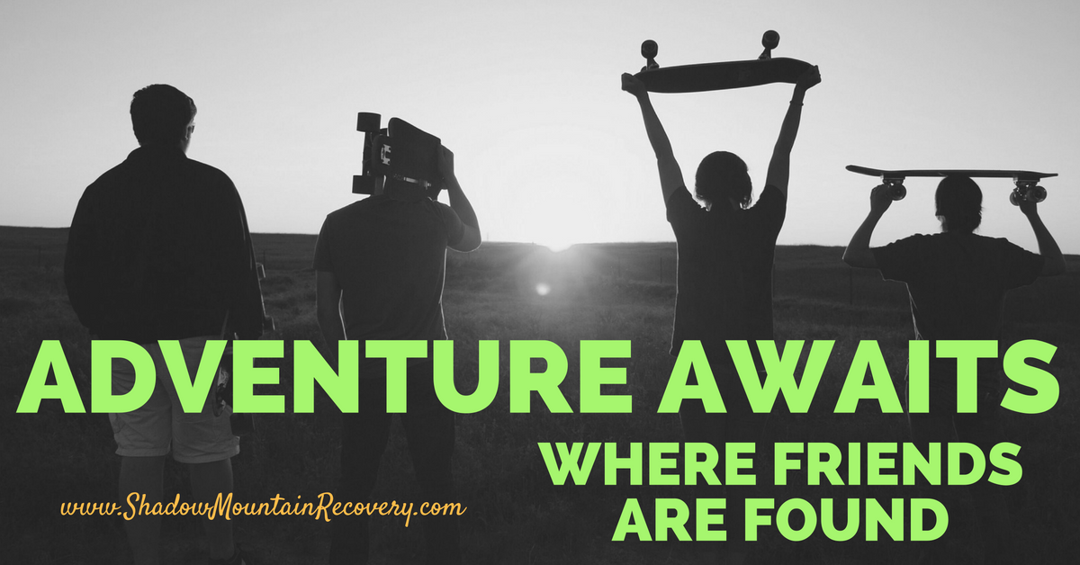 Adventure awaits where friends are found! Nothing beats new experiences in #sobriety, new adventures, and things you never dreamed of doing loaded. Find out what we mean at www.ShadowMountainRecovery.com    #adventure #skate #friends #SquadGoals #ShadowMountainRecovery #Addiction #Recovery #Rehab #Detox #Aspen #Cascade #ColoradoSprings #Denver #Colorado #Albuquerque #Taos #NewMexico #StGeorge #Utah #RecoveryIsPossible #RecoveryIsWorthIt #WeDoRecover #12Steps #AddictionRecovery…