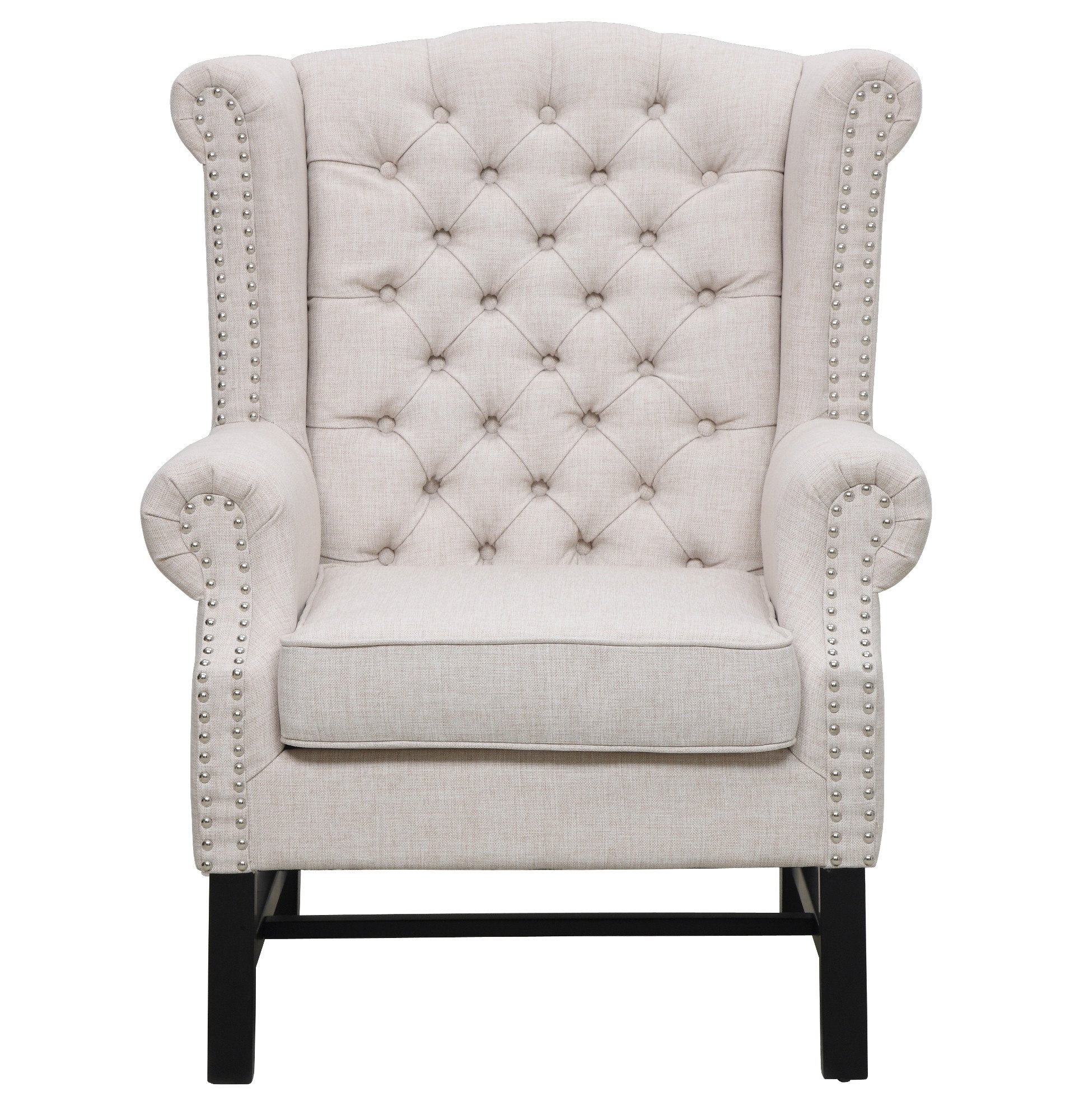 Fairfield Beige Linen Club Chair