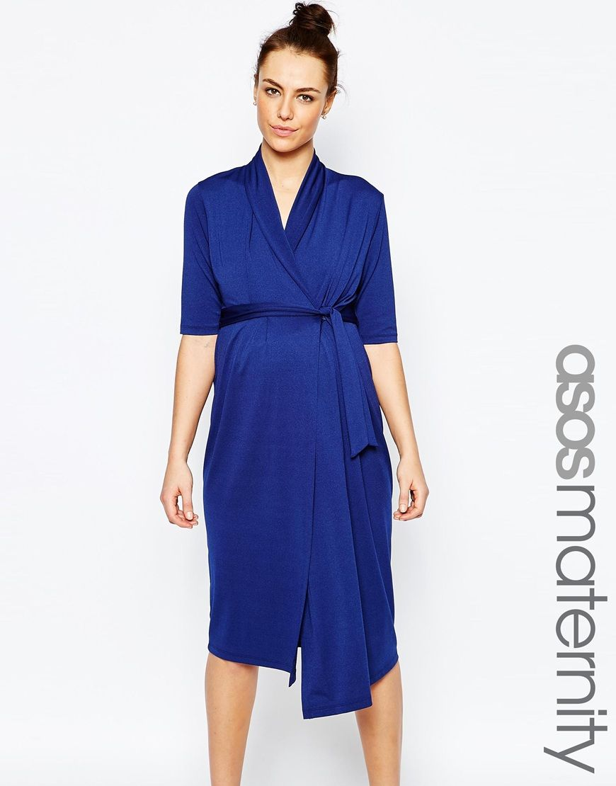 Image 1 of asos maternity wiggle wrap dress maternity image 1 of asos maternity wiggle wrap dress ombrellifo Images