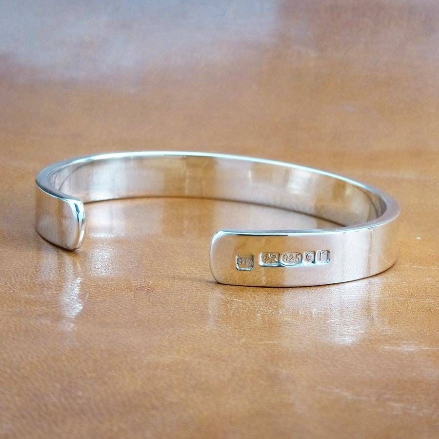 bracelet hallmarked can personalised torque mens bangles bangle sterling silver be
