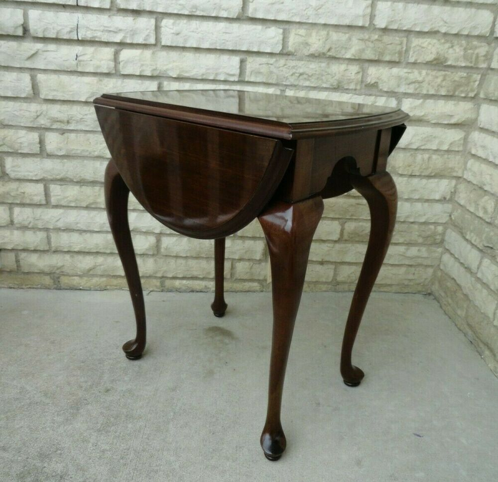 Ethan Allen Queen Anne Style Drop Leaf End Table 11 8013