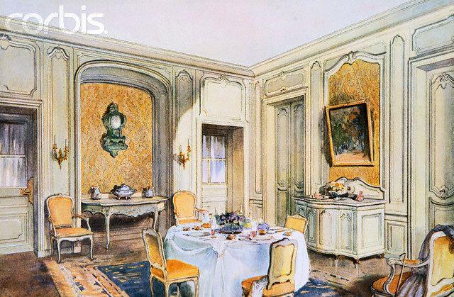 Georges Rémon - Décorateur - Planches Couleur - Salle à Manger - salle a manger louis