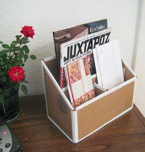 Cardboard Mail Organizer Action Shot Cardboard Crafts Diy
