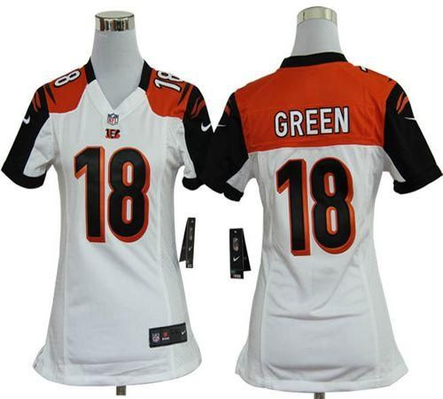 1983176a nike bengals 18 a.j. green white youth stitched nfl limited rush jersey